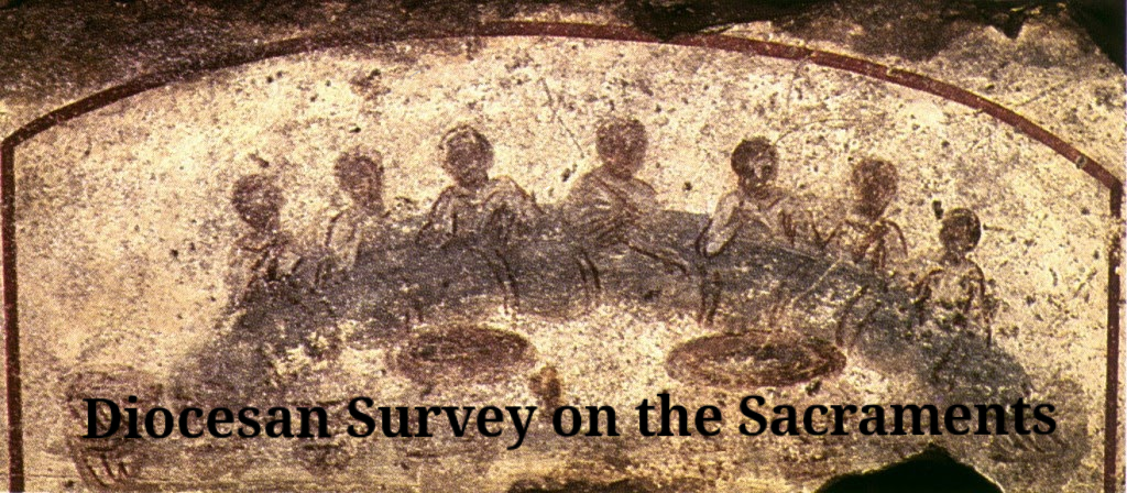 Click here to complete the Diocesan  Survey on Sacraments